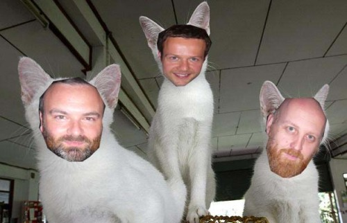 three pusskateers